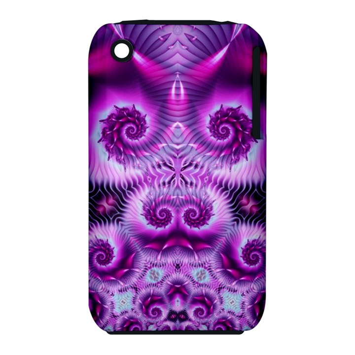 Purple Ecstasy Fractal Apple iPhone 3G/3GS Hardshell Case (PC+Silicone)
