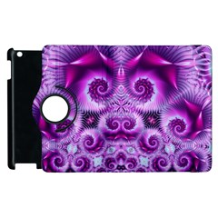 Purple Ecstasy Fractal Apple Ipad 2 Flip 360 Case by KirstenStar