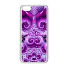 Purple Ecstasy Fractal Apple Iphone 5c Seamless Case (white) by KirstenStar