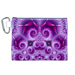 Purple Ecstasy Fractal Canvas Cosmetic Bag (xl) by KirstenStar