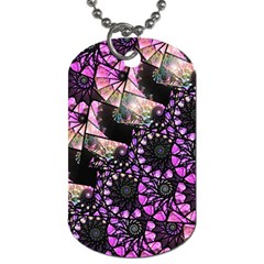 Hippy Fractal Spiral Stacks Dog Tag (one Sided) by KirstenStar