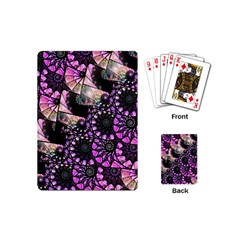 Hippy Fractal Spiral Stacks Playing Cards (mini) by KirstenStar