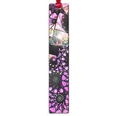 Hippy Fractal Spiral Stacks Large Bookmark by KirstenStar