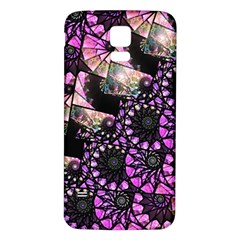 Hippy Fractal Spiral Stacks Samsung Galaxy S5 Back Case (white) by KirstenStar