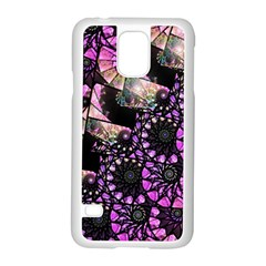 Hippy Fractal Spiral Stacks Samsung Galaxy S5 Case (white) by KirstenStar