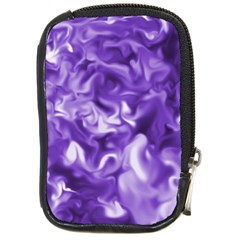 Lavender Smoke Swirls Compact Camera Leather Case by KirstenStar