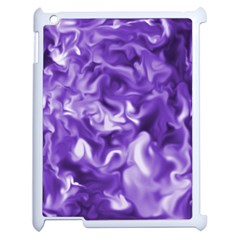 Lavender Smoke Swirls Apple Ipad 2 Case (white) by KirstenStar