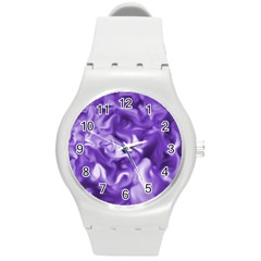 Lavender Smoke Swirls Plastic Sport Watch (medium) by KirstenStar