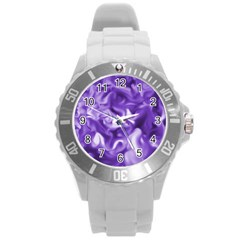 Lavender Smoke Swirls Plastic Sport Watch (large) by KirstenStar