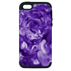 Lavender Smoke Swirls Apple Iphone 5 Hardshell Case (pc+silicone) by KirstenStar