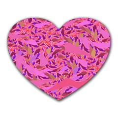 Bright Pink Confetti Storm Mouse Pad (Heart) by KirstenStar
