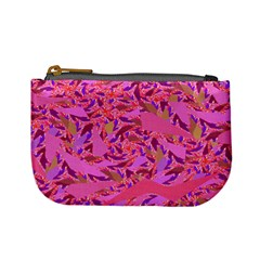 Bright Pink Confetti Storm Coin Change Purse by KirstenStar