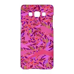 Bright Pink Confetti Storm Samsung Galaxy A5 Hardshell Case  by KirstenStar