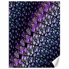 Dusk Blue And Purple Fractal Canvas 12  X 16  (unframed) by KirstenStar