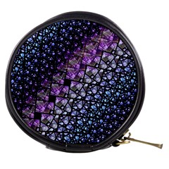 Dusk Blue And Purple Fractal Mini Makeup Case by KirstenStar