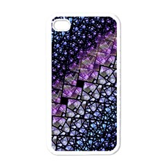 Dusk Blue And Purple Fractal Apple Iphone 4 Case (white) by KirstenStar