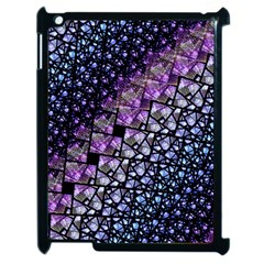 Dusk Blue And Purple Fractal Apple Ipad 2 Case (black) by KirstenStar