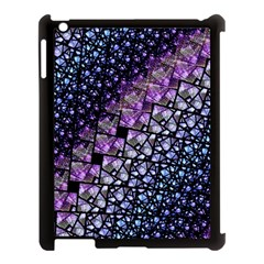 Dusk Blue And Purple Fractal Apple Ipad 3/4 Case (black) by KirstenStar