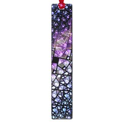 Dusk Blue And Purple Fractal Large Bookmark by KirstenStar