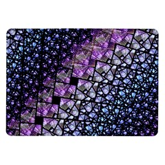 Dusk Blue And Purple Fractal Samsung Galaxy Tab 10 1  P7500 Flip Case by KirstenStar