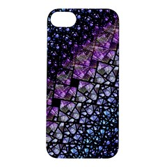 Dusk Blue And Purple Fractal Apple Iphone 5s Hardshell Case by KirstenStar