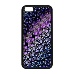 Dusk Blue And Purple Fractal Apple Iphone 5c Seamless Case (black)