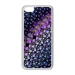 Dusk Blue And Purple Fractal Apple Iphone 5c Seamless Case (white) by KirstenStar