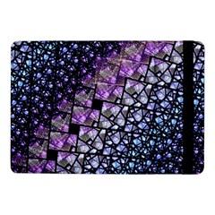Dusk Blue And Purple Fractal Samsung Galaxy Tab Pro 10 1  Flip Case by KirstenStar
