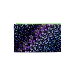 Dusk Blue And Purple Fractal Cosmetic Bag (xs) by KirstenStar