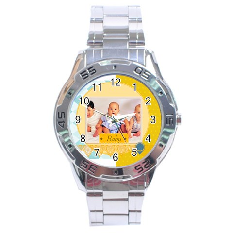Baby By Baby   Stainless Steel Analogue Watch   J7sm5u75r4r6   Www Artscow Com Front