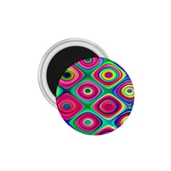 Psychedelic Checker Board 1 75  Button Magnet by KirstenStar