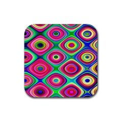 Psychedelic Checker Board Drink Coasters 4 Pack (square) by KirstenStar