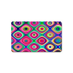 Psychedelic Checker Board Magnet (name Card) by KirstenStar