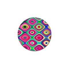 Psychedelic Checker Board Golf Ball Marker 10 Pack by KirstenStar