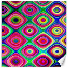Psychedelic Checker Board Canvas 20  X 20  (unframed) by KirstenStar