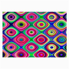 Psychedelic Checker Board Glasses Cloth (large, Two Sided) by KirstenStar