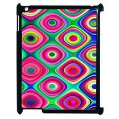 Psychedelic Checker Board Apple Ipad 2 Case (black) by KirstenStar
