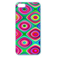 Psychedelic Checker Board Apple Seamless Iphone 5 Case (color) by KirstenStar