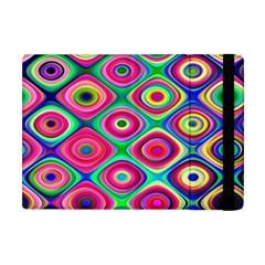 Psychedelic Checker Board Apple Ipad Mini Flip Case by KirstenStar