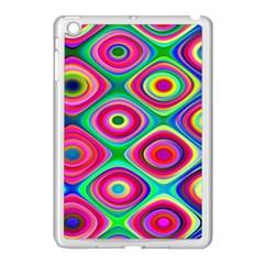 Psychedelic Checker Board Apple Ipad Mini Case (white) by KirstenStar