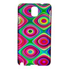 Psychedelic Checker Board Samsung Galaxy Note 3 N9005 Hardshell Case by KirstenStar