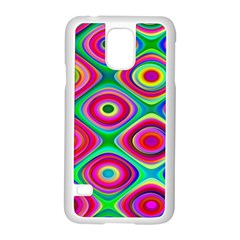 Psychedelic Checker Board Samsung Galaxy S5 Case (white) by KirstenStar