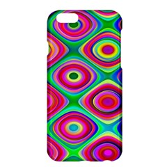 Psychedelic Checker Board Apple Iphone 6 Plus Hardshell Case by KirstenStar