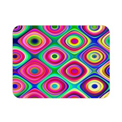 Psychedelic Checker Board Double Sided Flano Blanket (mini) by KirstenStar