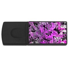 Butterfly Graffiti 4gb Usb Flash Drive (rectangle) by ArtistRoseanneJones
