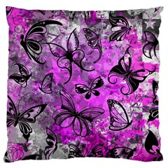 Butterfly Graffiti Large Cushion Case (Two Sided)  by ArtistRoseanneJones