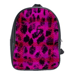 Pink Leopard School Bag (Large) by ArtistRoseanneJones