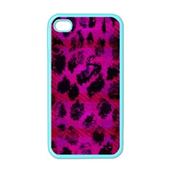 Pink Leopard Apple Iphone 4 Case (color) by ArtistRoseanneJones