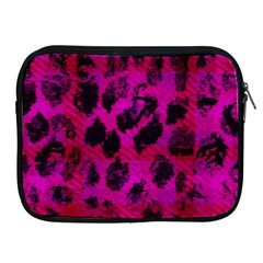 Pink Leopard Apple Ipad Zippered Sleeve by ArtistRoseanneJones
