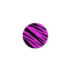 Pink Tiger 1  Mini Button Magnet by ArtistRoseanneJones